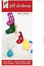 American Crafts DCWV Paper Projects - Stockings - Makes 1 Garland