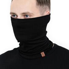 Face Mask Neck Gaiter Natural 100% Merino Wool Breathable Unisex Cover Black