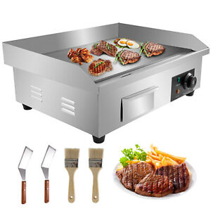 """3000W 22"""" Commercial Electric Countertop Griddle Flat Top Grill Hot Plate BBQ"""