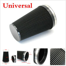 1pcs Car Performance High Flow 6in Air Intake Filter Universal Washable Black