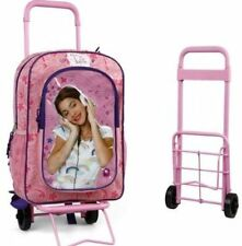 Violetta Trolley Sac Cartable à Roulettes Disney Licence 41 x 27cm Sac à Dos