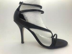 Ladies Shoes Pierre Fontaine Vade Black Patent High heel Size 7.5