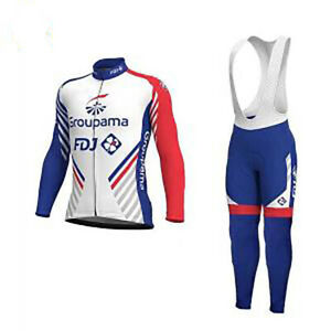 Mens Cycling Jersey Set Cycling Jersey Team Long Sleeve And Bib Pants Outfit Kit