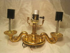 solid metal gold tone electric lamp lighting refurbishing triple light part