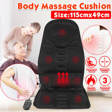 Car Home Chair Body Massage Heated Seat Cushion Back Neck Massager Vibration