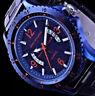 Spirit of Marine Herren Armband Uhr Schwarz Blau Orange Datum SPM2