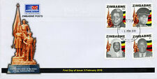 Zimbabwe 2018 FDC Heroes 4v Set Cover Famous People Personalities Stamps