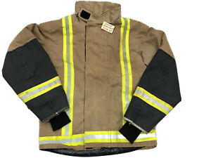 Firefighter Uniform Clothing Tan With Hi Viz Bands Used Various #2903