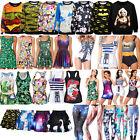 Various Womens Summer Digital Print Monokini /Skater Dress / Tank Top / Leggings