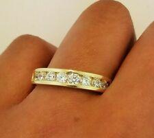 10k Solid Yellow Gold 4 mm Men's Wedding Band Ring Round Cut Diamond 0.3 CT