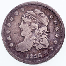 1836 Bust Half Dime in VG Condition, Natural Color, Full Complete Liberty