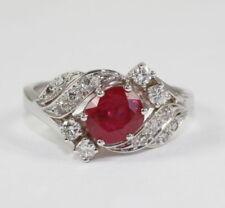 Ringe mit Rubin Edelsteinen für Damen (17,5 mm Ø) von Sets