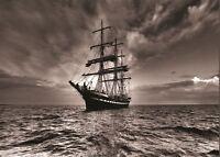 SAILING BOAT NAUTICAL SEA SHIP POSTER ART PRINT AMK523