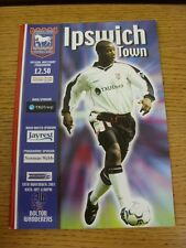 18/11/2001 Ipswich Town v Bolton Wanderers  (Excellent Condition)