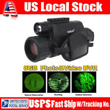 BLACK 8G WG-37 5X40 Digital IR Night Vision Monocular Takes Photo Video DVR