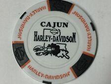 Harley Poker CHIP   CAJUN HD   LAFAYETTE, LA    WHITE ns
