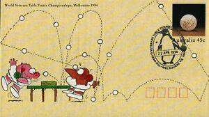 1994 7th World Veterans Table Tennis Postmark 22-4-94 Melbourne [P94-035]