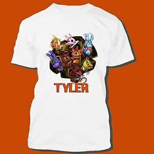 FIVE NIGHTS AT FREDDY`S PERSONALIZED T SHIRT PARTY FAVOR FNAF BIRTHDAY GIFT TEE