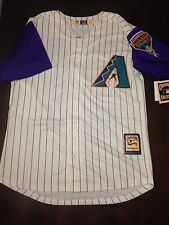 New Randy Johnson Arizona Diamondbacks Jersey Men Medium M Stitched Off-White