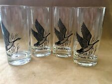 Vintage Canada Goose Set of 4 Tall  Drinking Glasses High Ball Tumbler Barware