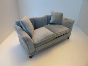 Dolls House Miniature 1:12th Scale Lounge Furniture Modern Grey Sofa w Cushions