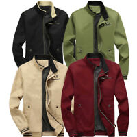New Men Fashion Casual Jacket Warm Winter Baseball Coat Slim Outwear Overcoat