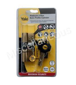 Yale Platinum 3 Star Euro Profile Cylinder 30/10/30 (PYS33535B)