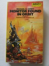 KELLY FREAS COVER SIGNED PB BOOK MONITOR FOUND IN ORBIT MICHAEL G. CONEY 1974 s