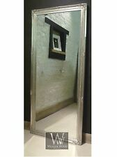 "Paris Silver Shabby Chic Leaner Antique Floor Mirror 65"" x 29"" (165cm x 74cm)"