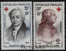 France 1959 Mi 1270-71 ** Czerwony Krzyż Red Cross Rote Kreuz Croix-Rouge