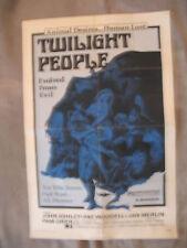 TWILIGHT PEOPLE 1972 Jan Merlin HORROR Pam Grier One Sheet Poster VG+ C 6
