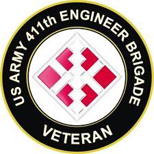 "411th Engineer Brigade Veteran 5.5"" Sticker 'Officially Licensed'"