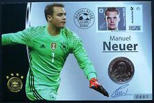 Deutschland 2014 Medaillen- Numisbrief 333er SILBER Fussball Manuel Neuer