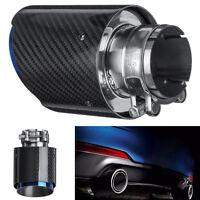 63mm-89mm Glossy Carbon Auto Auspuffendrohre Runde Schwanz Hals Schalldämpfer