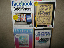 LOT 4 iPad Ultimate Guide + Learning with your + Mini + Facebook Beginners $95