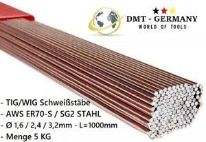 5KG WIG Schweißstäbe 1,6 / 2,4 / 3,2mm x 1000mm ER70S-6-3 Stäbe Stahl SG2 WSG2