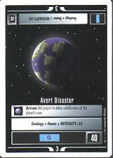 STAR TREK CCG WHITE BORDER PREMIERE 1995 BETA RARE CARD AVERT DISASTER