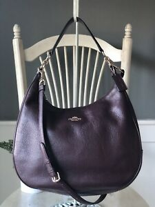 Authentic COACH HARLEY Burgundy Leather Convertible Shoulder Bag Hobo 38259 $425