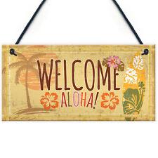 Tiki Bar Welcome Hanging Wall Plaque Garden Home Bar Pub Sign Friendship Gift