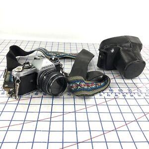 Asahi Pentax 35mm ME SLR Film Camera W/ Lens SMC Pentax-M 1.7/50mm