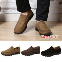 Fashion Men's Casual Driving Shoes Breathable Antiskid Loafers Slip on Moccasins