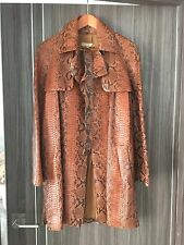 GREAT real snake python skin leather coat jacket coat MICHAEL KORS NEW 10.000$