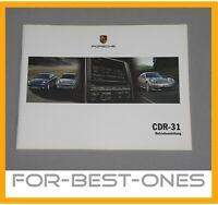 NEU Porsche CDR31 981 991 911 958 Betriebsanleitung Bedienungsanleitung Handbuch