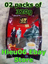 2 packs of 320 gram Trung Nguyen Vietnamese coffee ca phe G7 40 sachets of 16g
