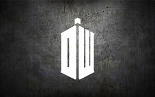 Doctor who 5'' vinyl car sticker decal buy 1 get 1 free dw