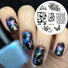Nail Art Stamping Template BORN PRETTY Butterfly Flower Patterns Image Plate  34