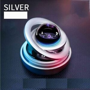 Rotating Double Ring Solar Magnetic Levitation Figurines For Car Ornament Crafts