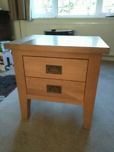 Vancouver Solid Oak Lamp Side Table