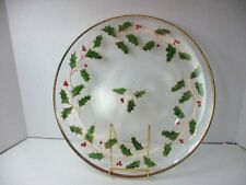 """Vintage Lenox Christmas 1998 Holiday Round Platter Hand Painted Holly 15"""" Mib"""