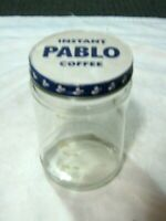 A Vintage Lithographed Tin Lid Pablo Instant Large Coffee Jar ( no Paper Label )